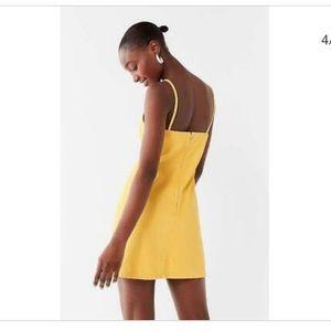 Mink Pink Yellow Denim Dress